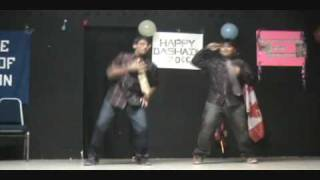 Sushil and Sushovit Khanal dancing on kalkatte kaiyo- Nepali Dashain 2009 (2066)- Saskatoon