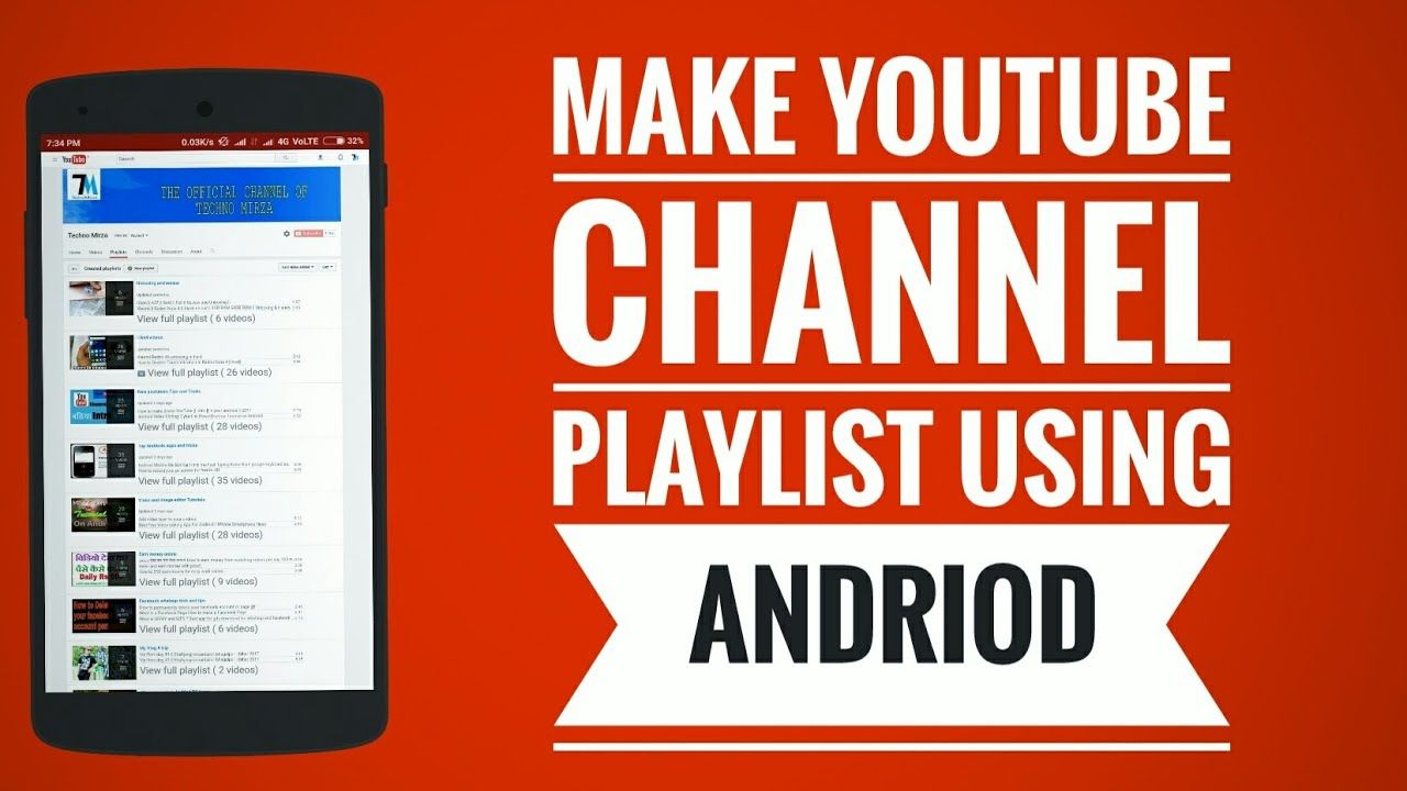 how to create playlist in youtube channel