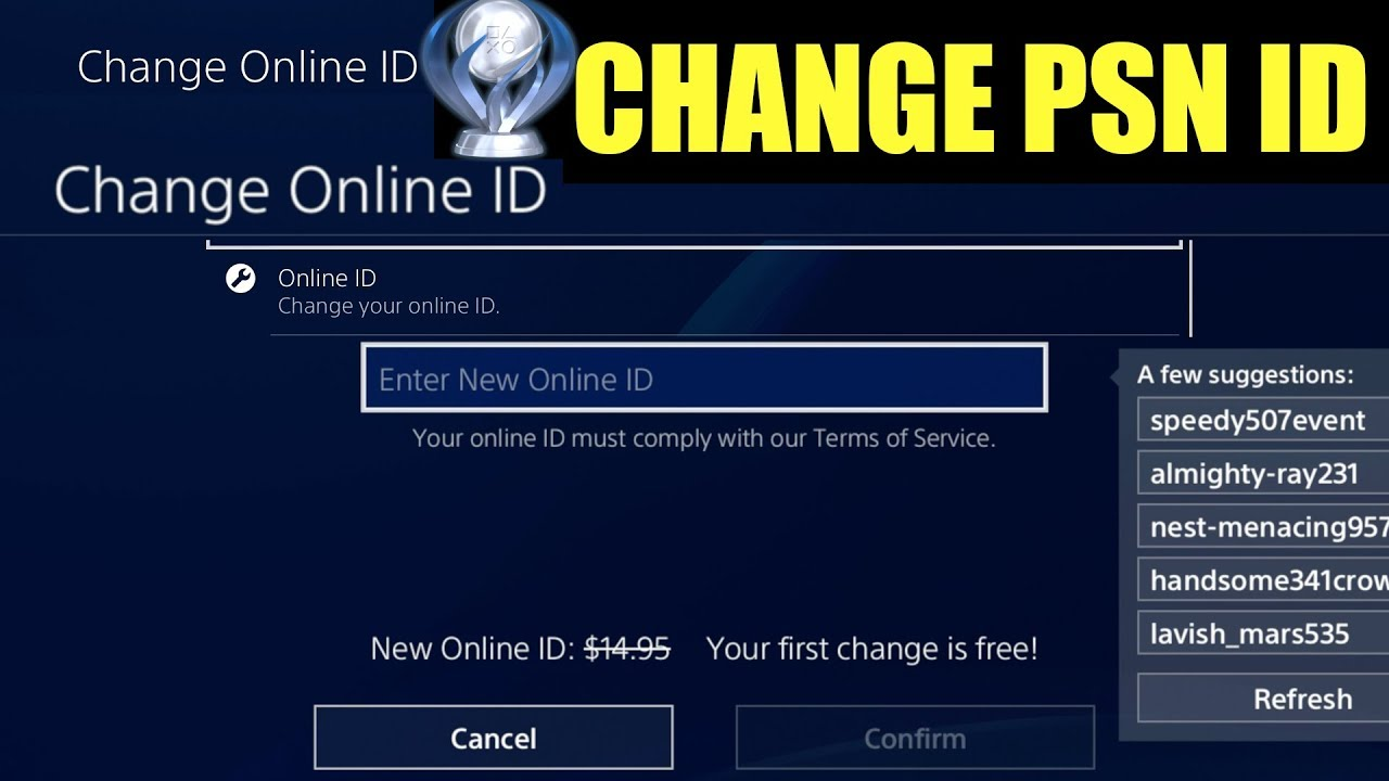 How To Change Your Ps4 Gamertag Change Gamertag On Ps4 How To Change Your Gamertag On Playstation Youtube