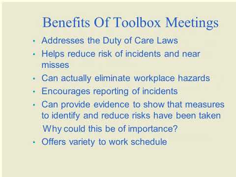 Toolbox Talk meetings | Purpose | What To Talk About