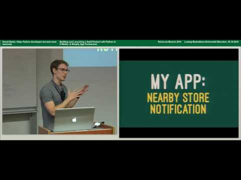Daniel Bader - Building and Launching a SaaS Product with Python in 2 Weeks