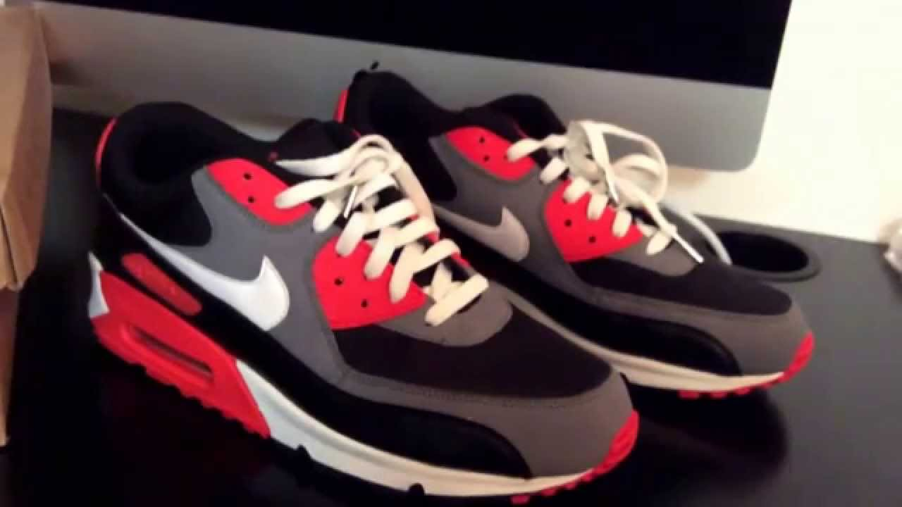 SNKRLOG #38: NIKE AIR MAX 90 CLASSIC HOT RED (REVERSE INFRAREDS ...