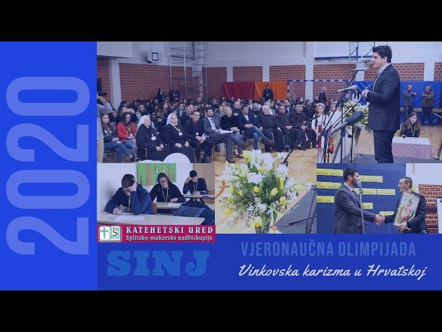 Vjeronaučna Olimpijada 2020.  u Sinju: Vinkovska karizma u Hrvatskoj
