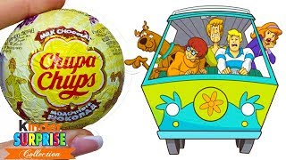Новинка! Чупа-Чупс Скуби Ду! Игрушки в шоколадных шарах Chupa-Chups по мультику Scooby Doo