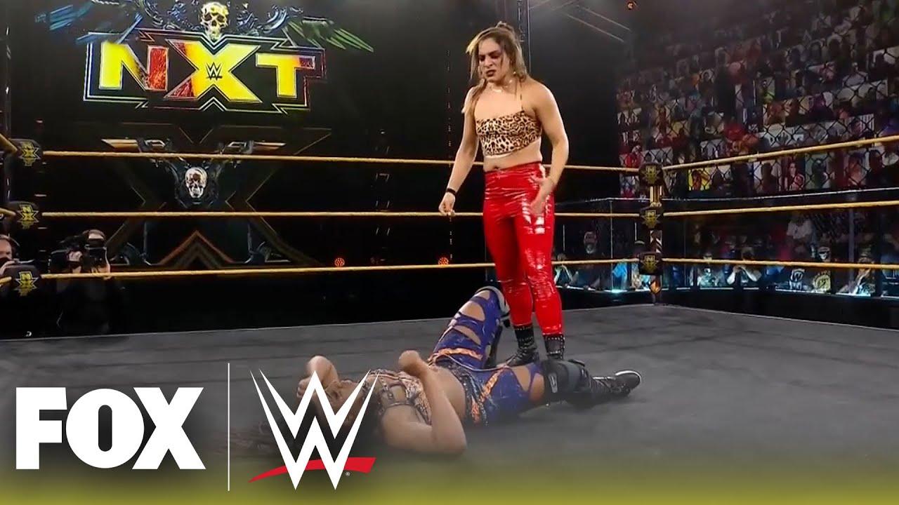 Raquel Gonzalez defends Dakota Kai with a cheap shot at Ember Moon | NXT | WWE ON FOX