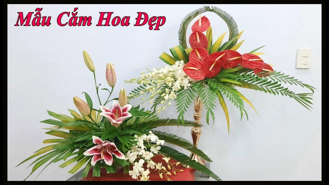 Hướng dẫn cắm hoa Ly kết hợp hoa Lan đẹp | Mẫu cắm hoa Phụng Vụ
