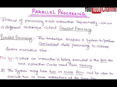 05- What Is Parallel Processing In Computer Architecture And Organization  In HINDI