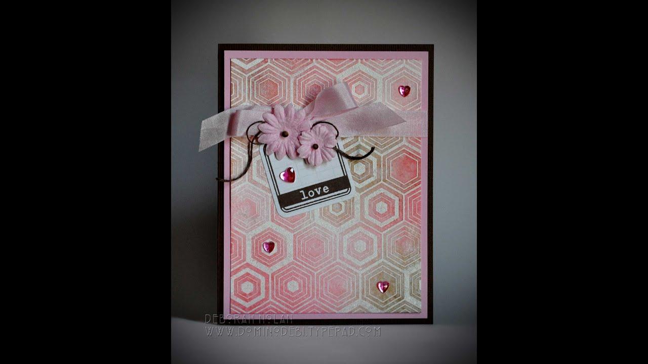 Handmade Greeting Card Love Youtube