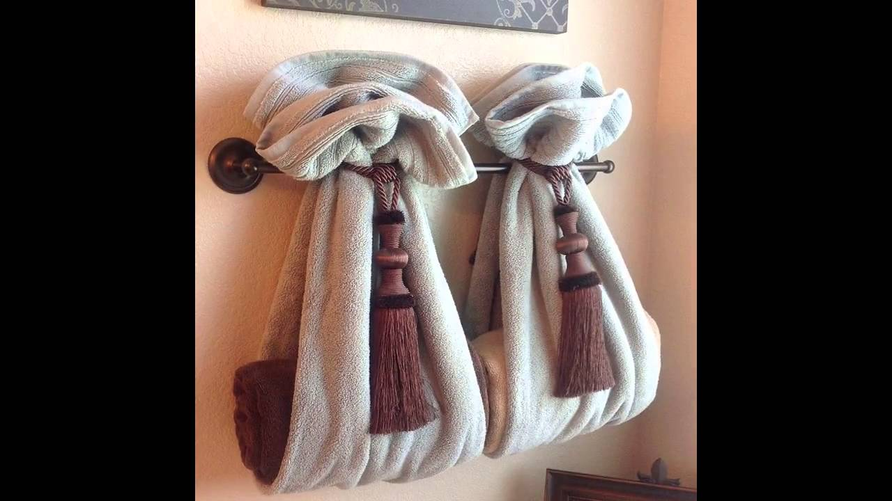 Nice Bathroom Towel Design Ideas   YouTube Idea