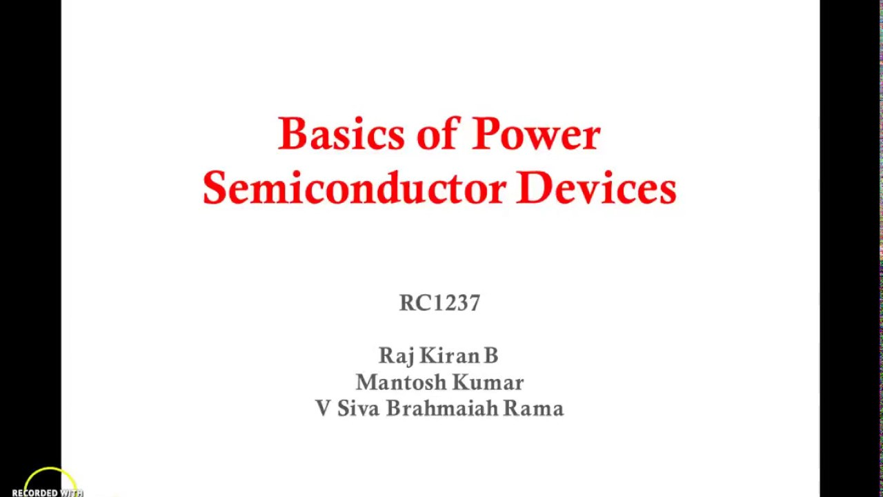 Led 2  Basics Of Power Semiconductor Devices