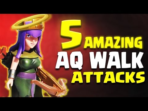 AMAZING!! 5 x DIFFERENT AQ WALK TH9 ATTACK STRATEGY | Clash of Clans