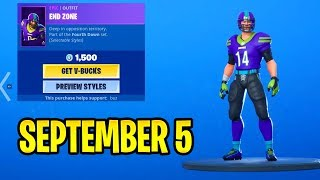So FOOTBALL SKINS ARE BACK..!! September 5 Item Shop Update - Daily Fortnite
