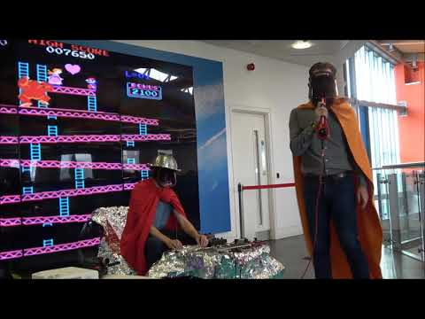 Atomic Supermen at Cardiff Central Library