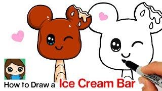 How to Draw a Mickey Mouse Ice Cream Bar Plush