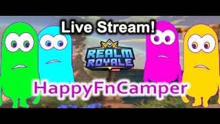 Fortnite yesterday, today Realm Royale. The new Battle Royale! HFC Random Squads. Live Stream #8