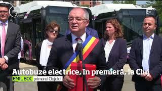 Cluj Napoca este primul oraş din România în care au fost introduse autobuze electrice