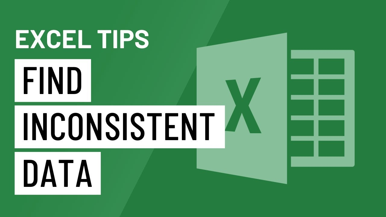 Excel Quick Tip: A Trick for Finding Inconsistent Data
