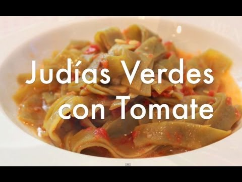 Jud as verdes con tomate recetas ligeras youtube - Como hacer judias verdes ...