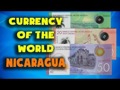 Currency Of The World - Nicaragua. Nicaraguan Cordoba. Nicaraguan Banknotes And Nicaraguan Coins