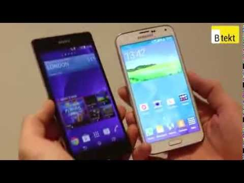 Samsung Galaxy S5 vs Sony Xperia Z2  world's first at MWC 2014