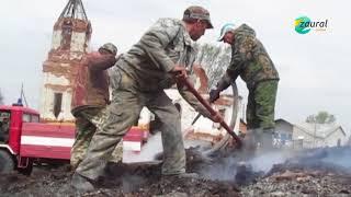 Сгорели даже куры и козы! В Мишкинском районе разгребают завалы
