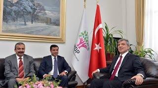 Cumhurbaşkanı Gül'den HDP Eş Genel Başkanı Demirtaş'a Veda Ziyareti-07.08.2014