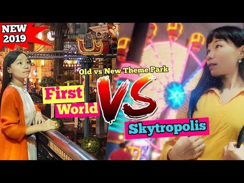 Skytropolis Genting vs First World Theme Park Genting Highland Malaysia [Small Girl Big World]