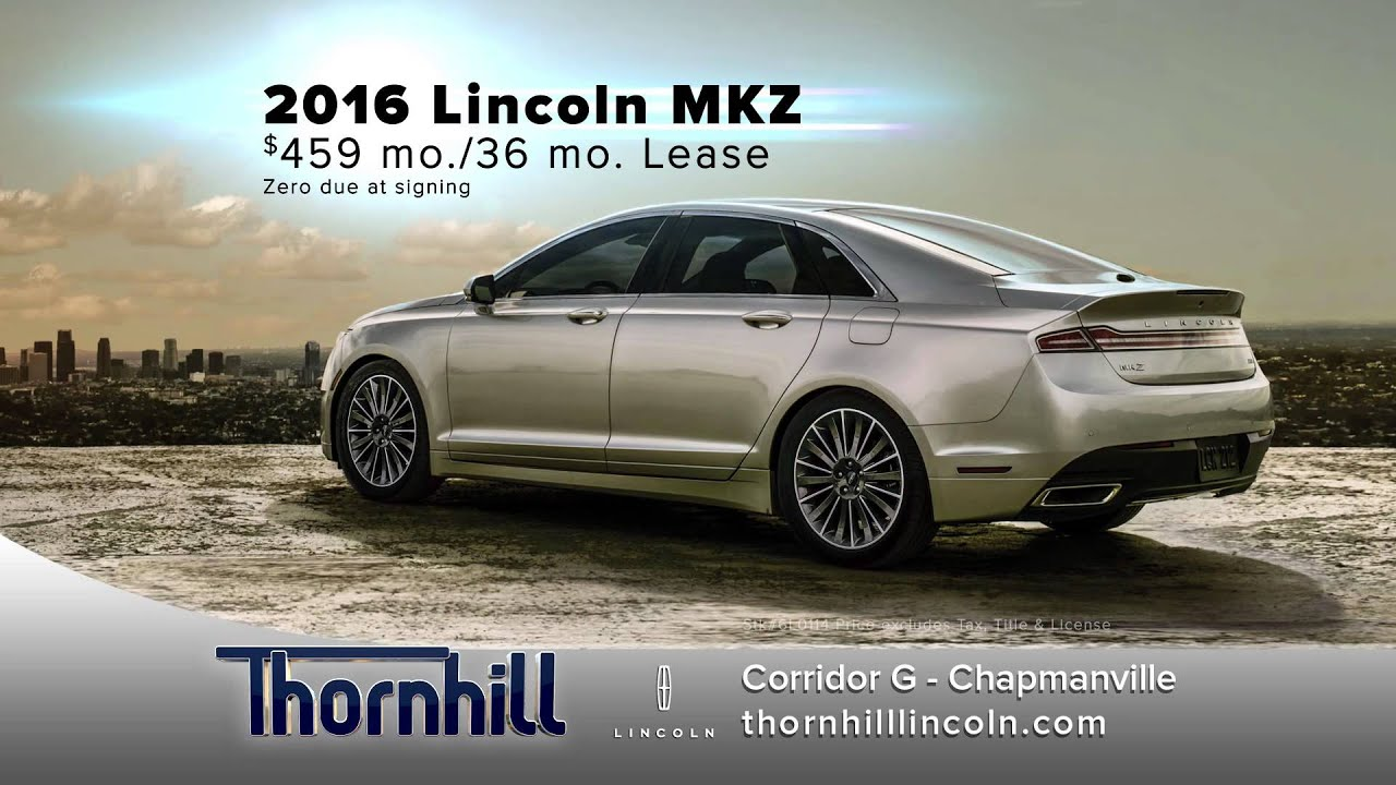 2016 Lincoln Mkz Lease