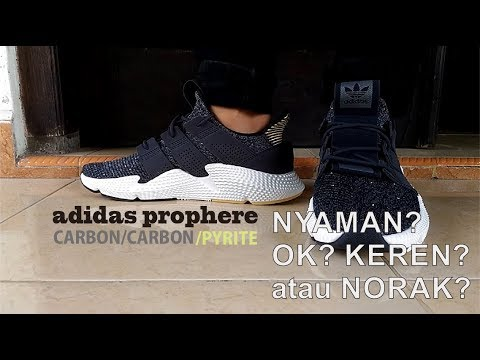 new styles 5ce84 a84bf UNBOXING  REVIEW ADIDAS PROPHERE CARBON PYRITE (BLACK WHITE) INDONESIA by  Jullian Bagas Aditya
