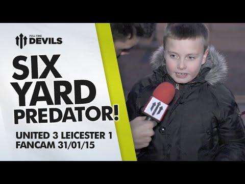 Radamel Falcao: Six Yard Predator | Manchester United 3 Leicester City 1 | FANCAM
