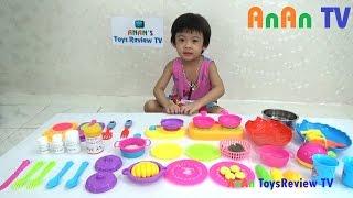 Bộ đồ chơi nấu ăn - Bé tập nấu ăn - Cooking Kitchen Playset ❤ Anan ToysReview TV ❤
