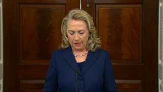 Secretary Clinton Delivers Remarks on the Deaths of American Personnel in Benghazi, Libya