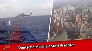 Deutsche Marinesoldaten entern türkischen Frachter im Mittelmeer vor Libyen