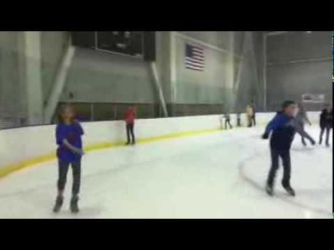 Jess Ice Skating Comedic