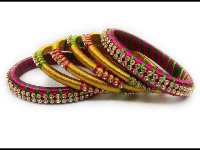 High Quality Silk Thread Work Bangles || Latest Fancy Silk Thread Bangles Designs  Collections