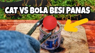 WOW!! Eksperimen CAT vs BOLA BESI PANAS..