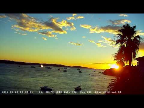 Hvar Webcam Recording from 22.Aug.2016. - Nice Sunset