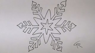 Learn How To Draw And Color A Pretty Snowflake -- Part 1 -- iCanHazDraw!