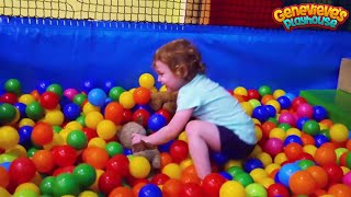 Genevieve has fun at an Indoor Playground!