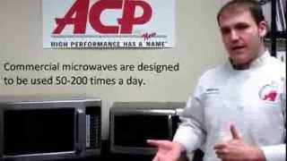 Menumaster Microwaves - Commercial vs Domestic