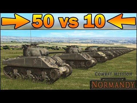 50 SHERMANS vs 10 TIGERS – SIMULATION – Combat Mission Battle for Normandy Gameplay