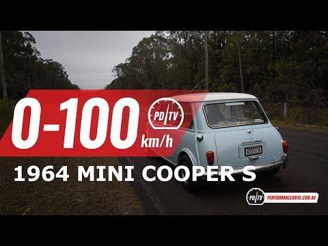 1964 Mini Cooper S (replica) 0-100km/h & engine sound