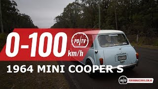 1964 Mini Cooper S (replica) 0-100km/h & engine sound