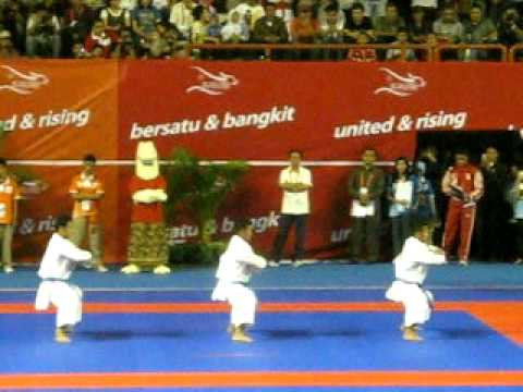 Karate Sea Games - Indonesia - Bunkai Kata Male - Kururunfa