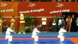 Karate Sea Games - Indonesia - Bunkai Kata Male - Kururunfa