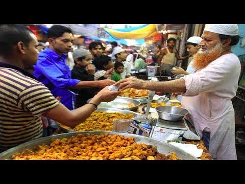 Amazing Street Food in Charminar Hyderabad   Ramzan Food Walk