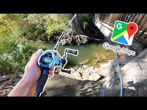Discovering URBAN Dallas Ponds With GOOGLE MAPS! (Google Maps Fishing Challenge)