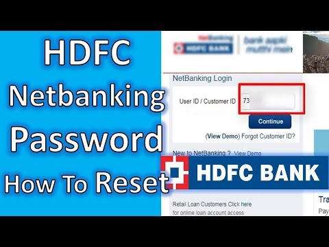 How to Cahnge HDFC Netbanking Password,hdfc netbanking ipin reset, Netbanking Password Reset   TNG