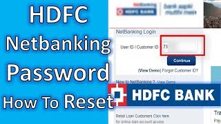 How to Cahnge HDFC Netbanking Password,hdfc netbanking ipin reset, Netbanking Password Reset | TNG