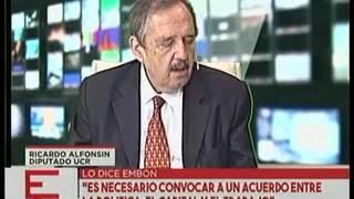 Ricardo Alfonsin en Crónica Tv